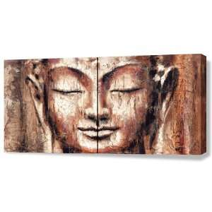 Giclee of Buddha Painting FAITH (2 panels): Home & Kitchen