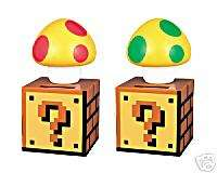 Nintendo Super MARIO BROS KINOKO  Pair of Solar Figures