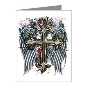 Note Cards (10 Pack) Cross Angel Wings