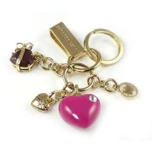 Juicy Couture Keychain Mini Hearts Keyfob Jewelry