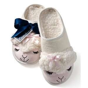 Super Plush Lambie Slippers Pink/white Size L