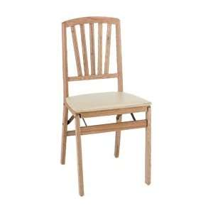 Alston Solid wood flding dining chair w/ uphlst. Seat, 16