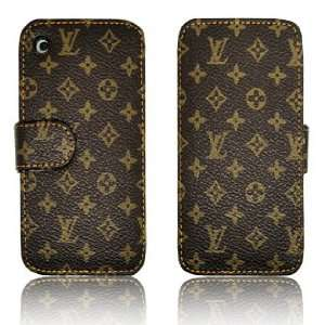 Brown Designer Leather Case Cover for iPhone 3G 3GS *HOT