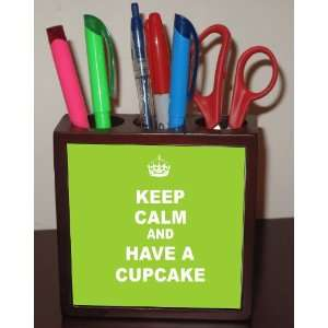 Rikki KnightTM Keep Calm and have a Cupcake   Lime Green Color 5 Inch