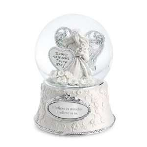 Personalized Miracle Angel Snow Globe Gift
