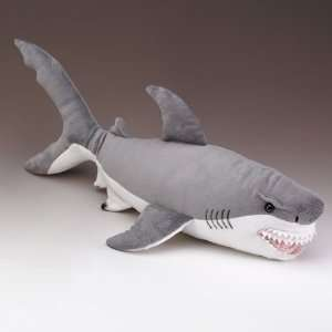 Great White Shark Plastic Toy Figure Jaws Open New 7 Long