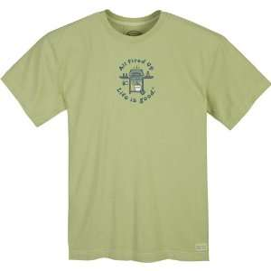 Life is good. Mens Crusher Tee   All Fired Up Grill   Sprout Green   L