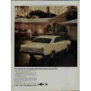 1966 Chevy II Nova SS Coupe by Chevrolet Ad, A3962. 19660618