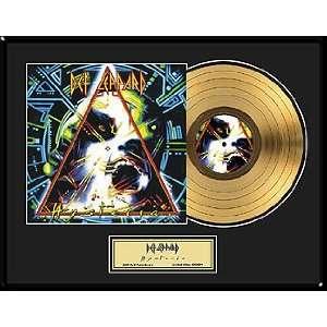 Def Leppard   Hysteria 24 KaRat Gold Record Limited