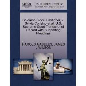 Pleadings (9781270663515): HAROLD A ABELES, JAMES J WILSON: Books