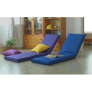 Purple Folding Portable BackJack Floor Chair Office