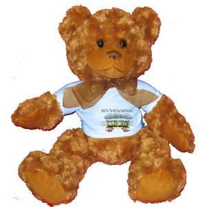 8th Day God Created GRAPHIC ARTISTS Plush Teddy Bear with BLUE T Shirt