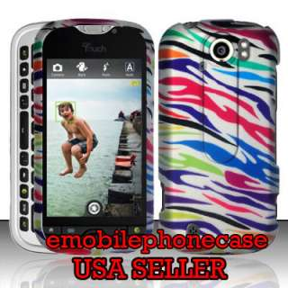 Cute Zebra Snap On Rubberized Hard Case Cover HTC T Mobile myTouch 4G