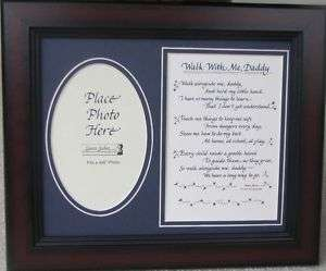 Walk With Me Daddy Picture Frame Poem Dad Gift Photo