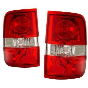 2004 2006 Ford F150 KS LED Style Red/Clear Tail Lights Automotive