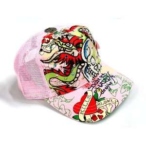 NEW ED HARDY TRUCKERS BASEBALL CAP (HAT) with RHINESTONES