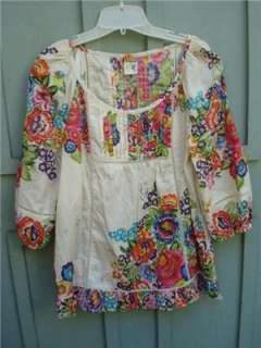 Flores Peasant Blouse Top Sz 6 and 8   by EDME & ESYLLTE