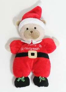 Carters Just One Year Merry Christmas Plush Santa Bear
