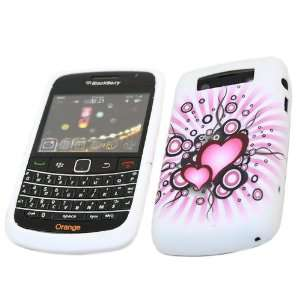 OF LOVE WHITE BLACK PINK HEARTS Super Hydro Gel TPU Protective Armour