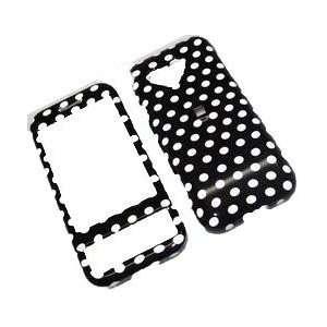 HTC Google Android G1 Black Polka Dot Hard Cover Case