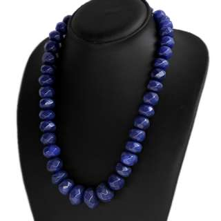 BEAUTIFUL FASHION EVER 788.00 CTS NATURAL FACETED BLUE SAPPHIRE BEADS