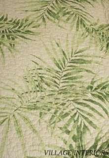 PALM TREE TROPICAL HAWAIIAN BEACH HOUSE KING QUILT + SHAMS SET