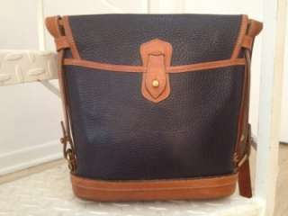 Dooney and Bourke AWL Navy pebbled leather handbag Medium size purse
