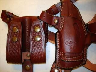 LEATHER SHOULDER HOLSTER RIG 4 colt commander 4 1911