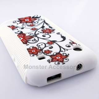 Red Flower Dual Flex Hard Cover for Samsung Galaxy S 4G