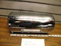 CHROME OIL TANK ROUND CHOPPER BOBBER HARLEY TRIUMPH CUSTOM RIGID26 208