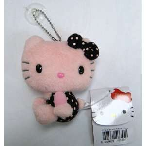 Hello Kitty Plush Toy Keychain with Suction Cup in Pink Toys & Games