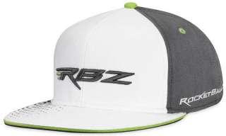 TAYLORMADE RBZ ROCKETBALLZ FLAT BILL GOLF HAT CAP WHITE/GREY L/XL NWT
