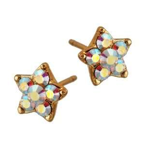 Michal Negrin Star Earrings Well Crafted with White Swarovski Crystals