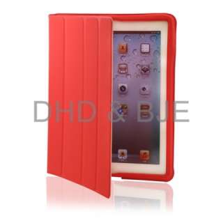 iPad 2 Magnetic Smart Cover polyurethane Leather Case Ultra Slim Stand