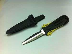 2011 Wenoka Squeeze Lock Blunt Tip Stainless Steel/Titanium Dive Knife
