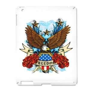 iPad 2 Case White of Freedom Eagle Emblem with United States Flag