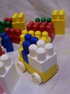 Lot 106 Piece Large Jumbo Mega Bloks Brick Toddler Size Building