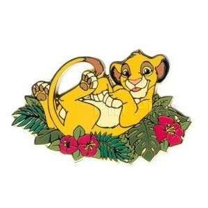 Disney Pins Lion King Simba in Leaf Bed Toys & Games