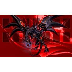 Yugioh Red Eyes Black Dragon Custom Playmat / Gamemat