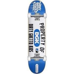 DGK Property Of Complete Skateboard   7.9 Blue w/Raw Trucks & Wheels
