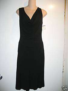 NWT BEBE black drape front dress with lace XS NEW $149