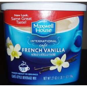 General Foods International French Vanilla Cafe Coffee Drink Mix, 27