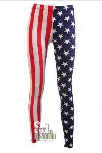 New Ladies Jean Olympics Games UK Stars Stripes American US FLAG Print