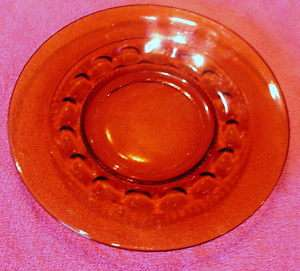 Indiana Amber Glass Kings Crown 8 1/4 SALAD PLATE(S)