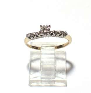 Estate 14k Yellow gold Natural Diamond Engagement Ring Insert size 7