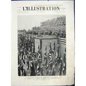 Fuhrer Hitler Nuremberg Military French Print 1933