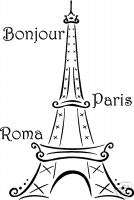 NEW Wall letters words FRENCH PARIS EIFFEL TOWER