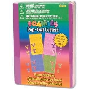Foam Pop Out Letter Stickers 16 Sheets/Pkg Casual