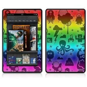 Kindle Fire Skin   Cute Rainbow Monsters by uSkins