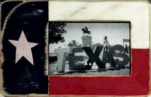 Rustic Texas Flag Painted Wooden 4X6 Picture Frame, Portrait or